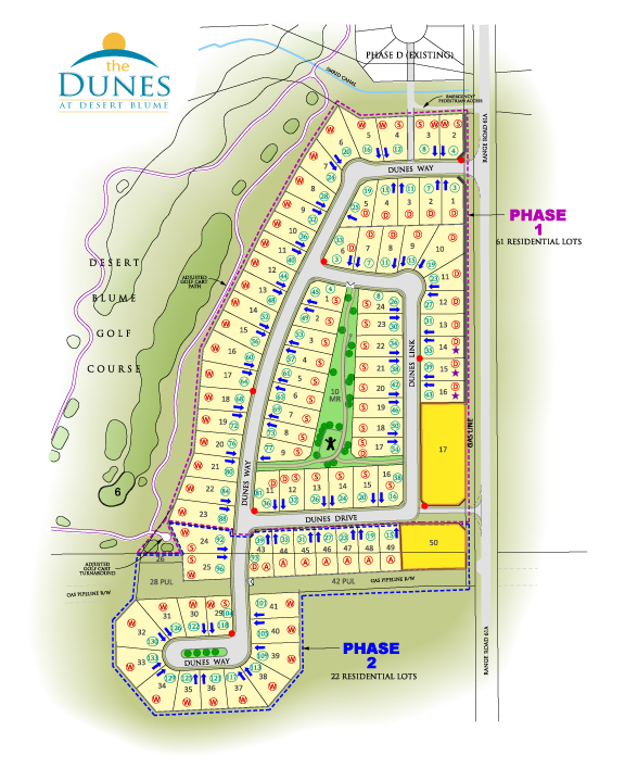 The Dunes at Desert Blume Layout